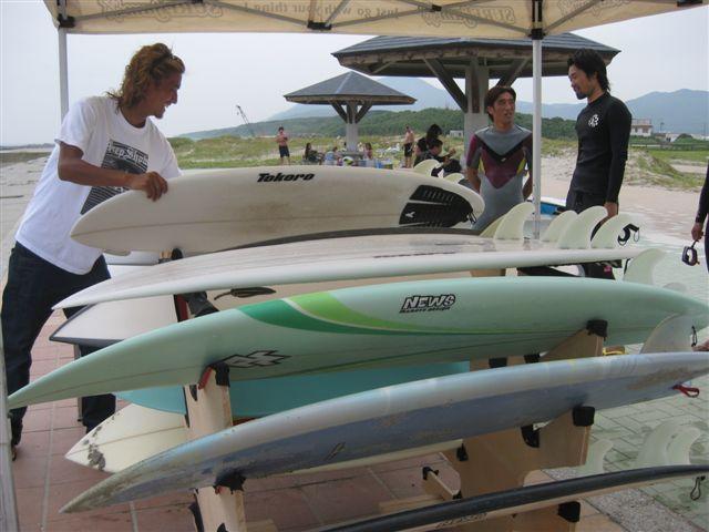 サーフボードの試乗会