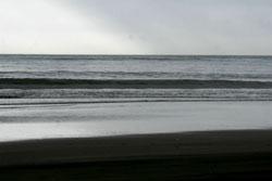 フラットな海
